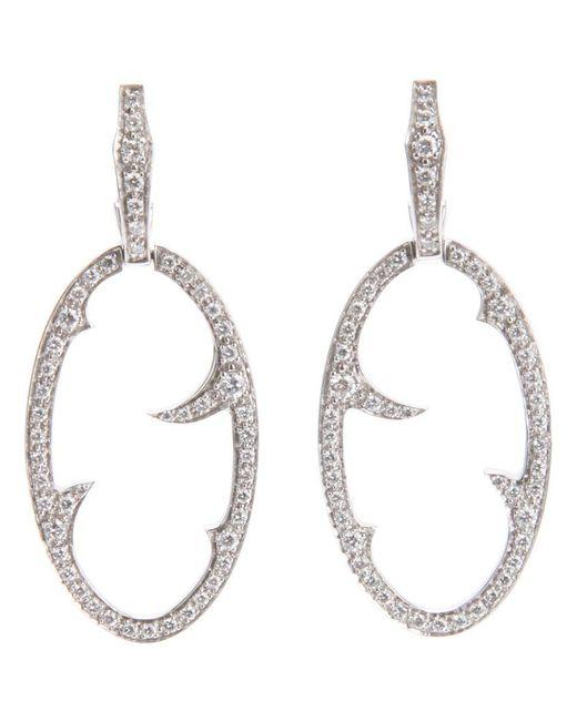 Stephen Webster - White Diamond 'oval Thorn' Earrings - Lyst
