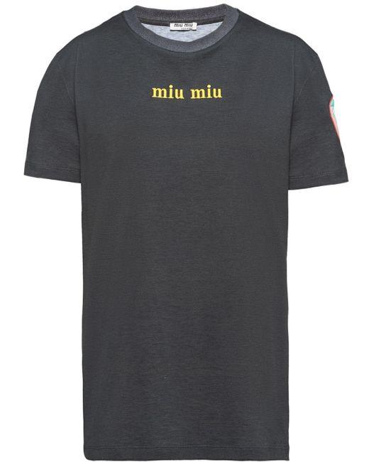 Miu Miu プリント Tシャツ Multicolor