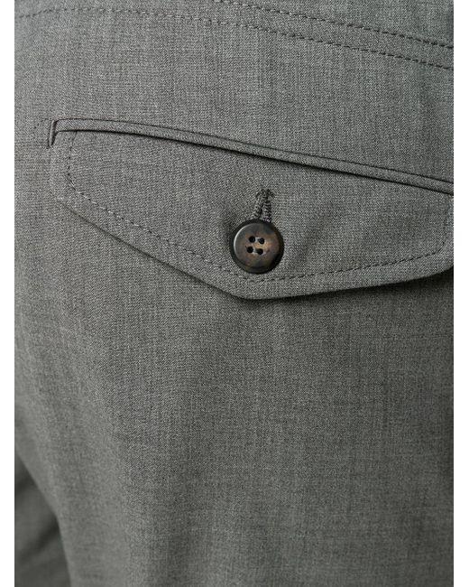 メンズ Eleventy ドローストリング ストレートパンツ Gray