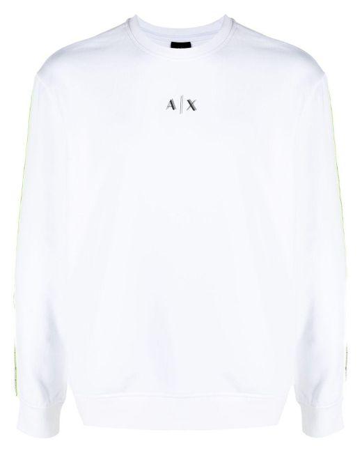 メンズ Armani Exchange ロゴ スウェットシャツ White
