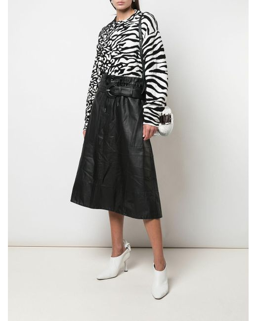 PROENZA SCHOULER WHITE LABEL ゼブラストライプ トップ Black