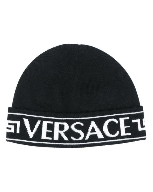 Versace ロゴ ビーニー Black