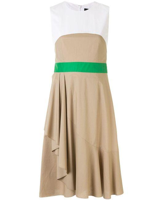 Paule Ka ベルテッド ドレス Multicolor