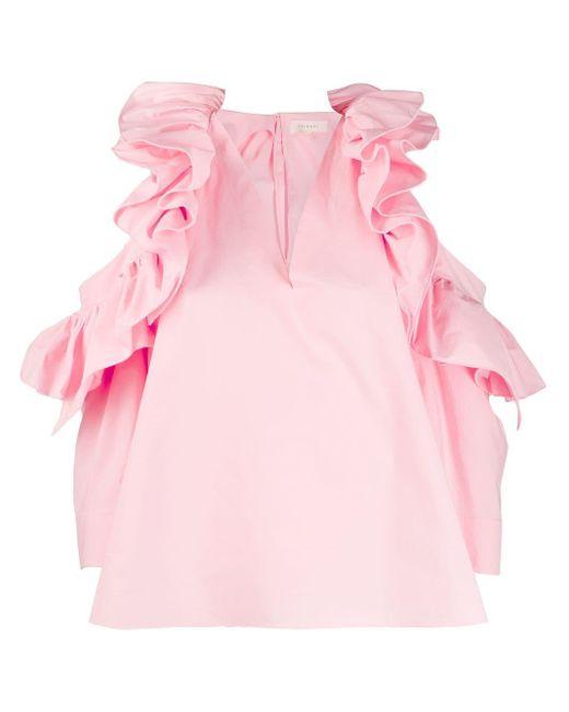 Delpozo フリルヘム ブラウス Pink