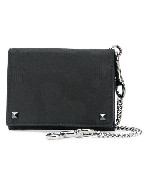 Valentino - Black Garavani Rockstud Wallet for Men - Lyst