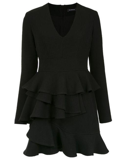 Andes Ruffled Dress Olympiah, цвет: Black