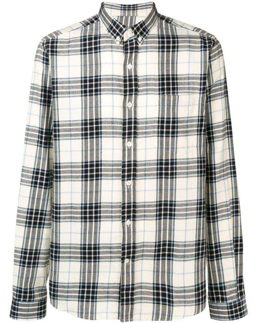 Рубашка С Воротником На Пуговицах AMI для него, цвет: Black
