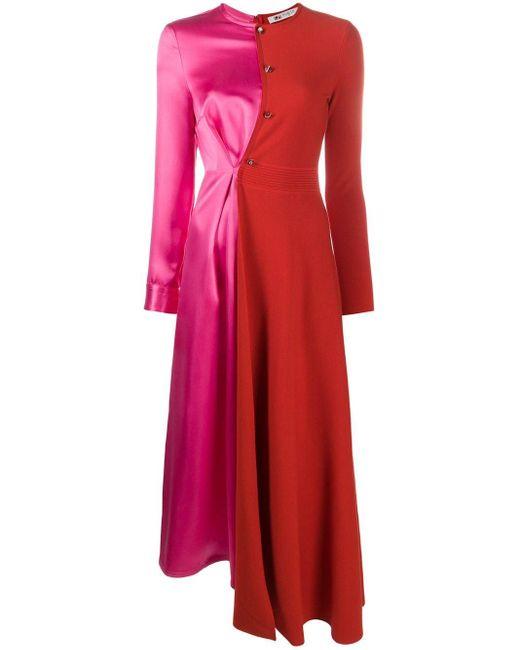 Ports 1961 バイカラードレス Pink