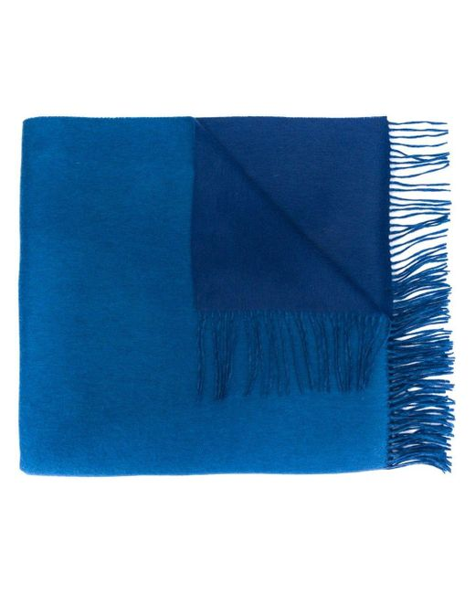 N.Peal Cashmere カシミア スカーフ Blue