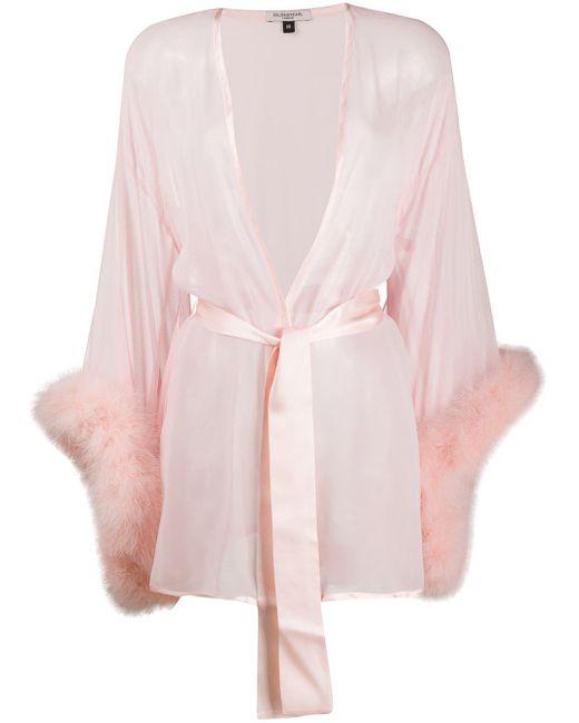 Gilda & Pearl Diana シルク ローブ Pink