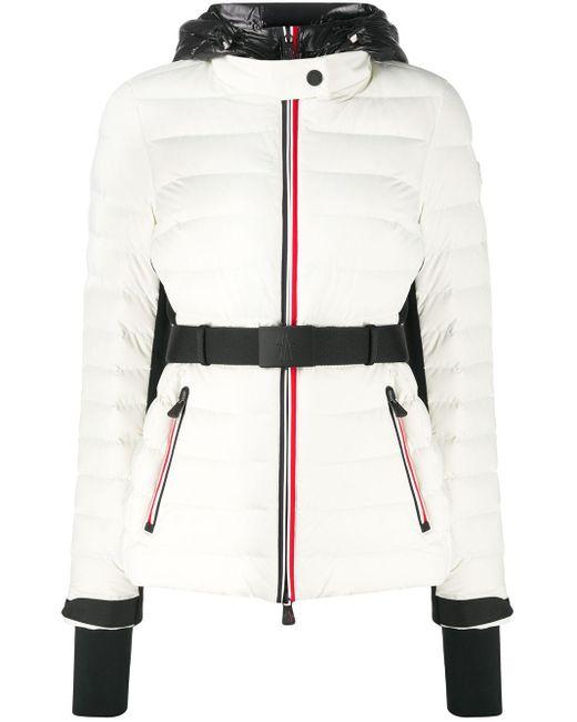 3 MONCLER GRENOBLE キルティング パデッドジャケット White