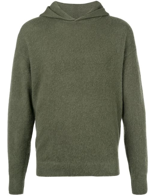 Massimo Alba Green Textured Style Hoodie for men