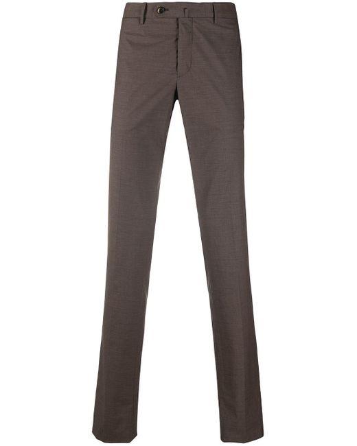 PT01 Brown Super Slim-fit Chinos for men