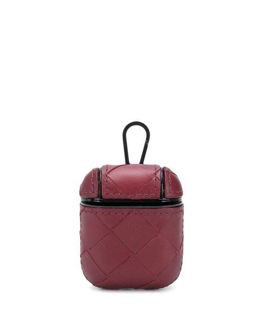 メンズ Bottega Veneta イントレチャート Airpods ケース Red