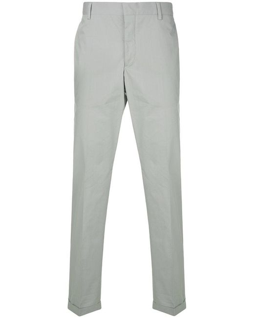 Prada - Gray Straight-leg Chinos for Men - Lyst