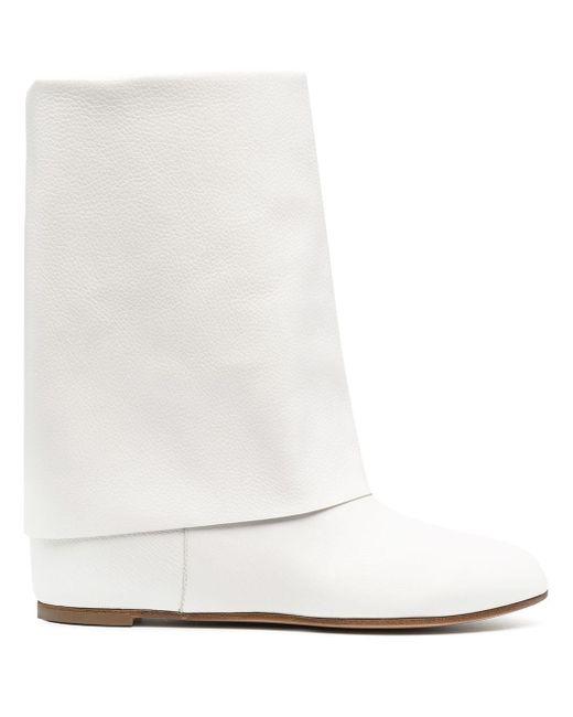 Сапоги С Подворотом Casadei, цвет: White