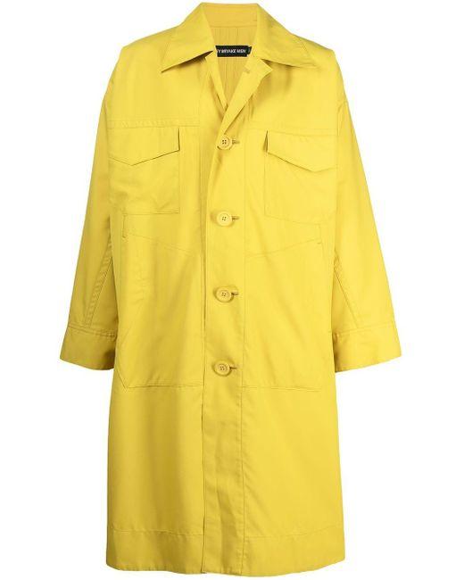 Issey Miyake Regenmantel im Oversized-Look in Yellow für Herren