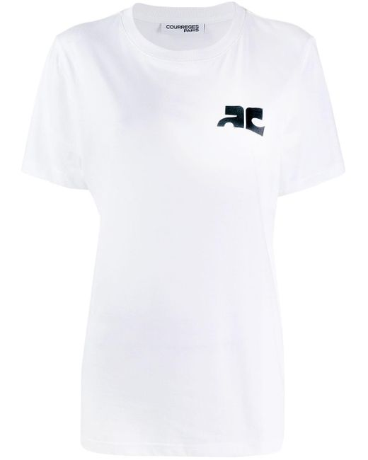 Courreges プリント Tシャツ White