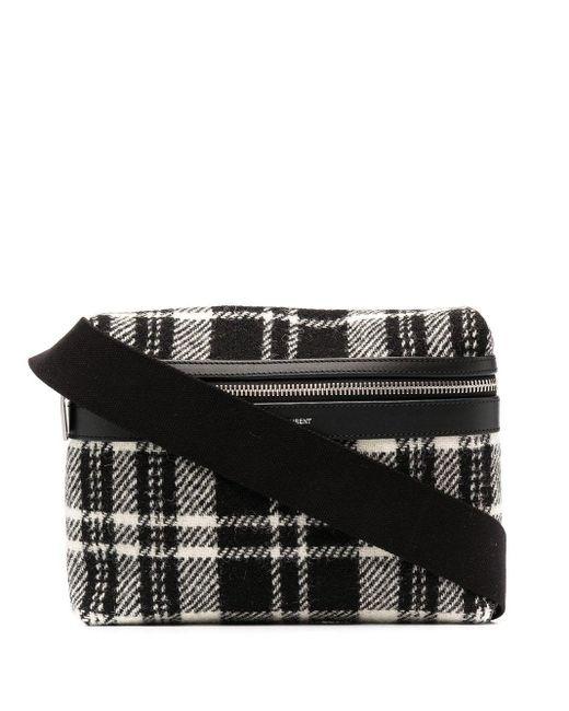 Сумка City В Клетку Тартан Saint Laurent для него, цвет: Black