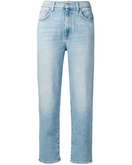 7 For All Mankind テーパード ジーンズ Blue