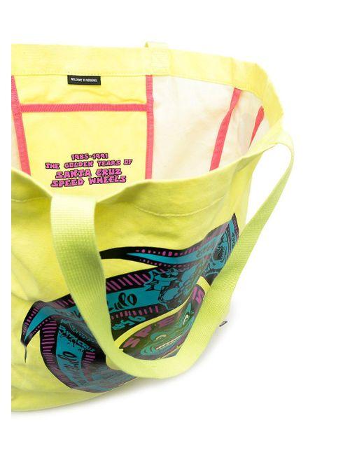 メンズ Herschel Supply Co. グラフィック トートバッグ Yellow