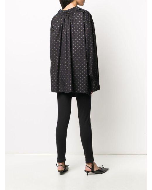 Balenciaga ロゴプリント シャツ Black