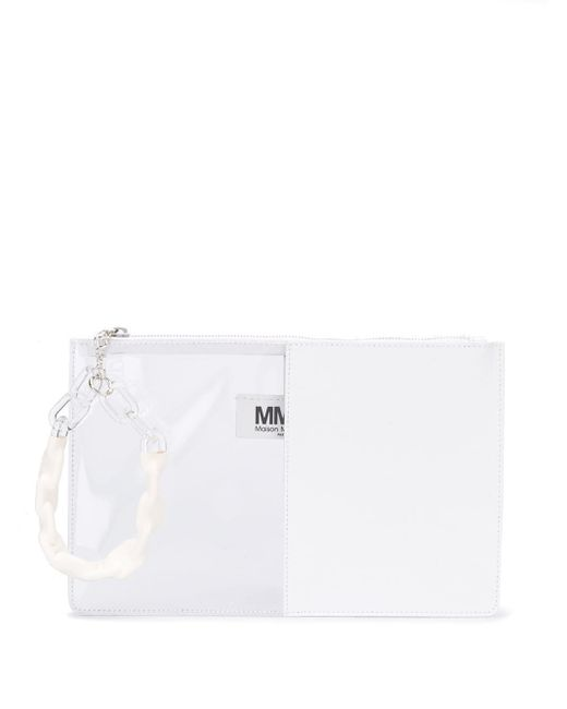 MM6 by Maison Martin Margiela クリア クラッチバッグ White