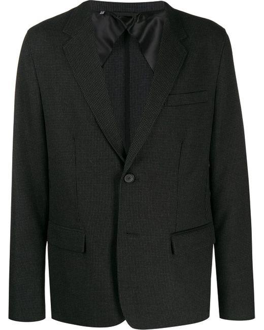 メンズ Lanvin チェック シングルジャケット Gray