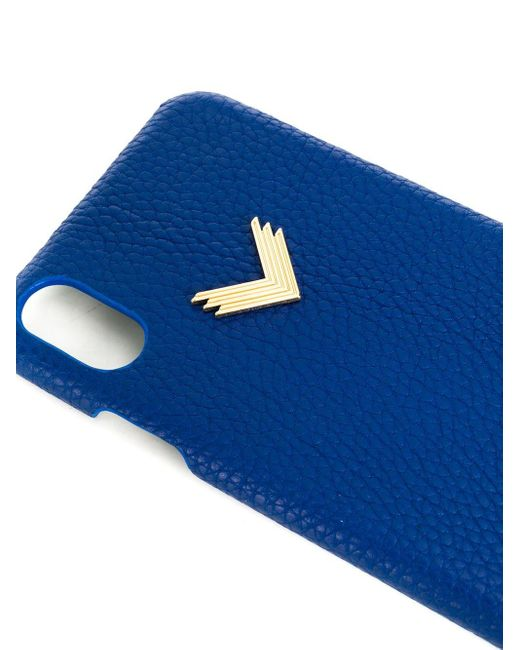 Manokhi X Velante Iphone Xs Max ケース Blue
