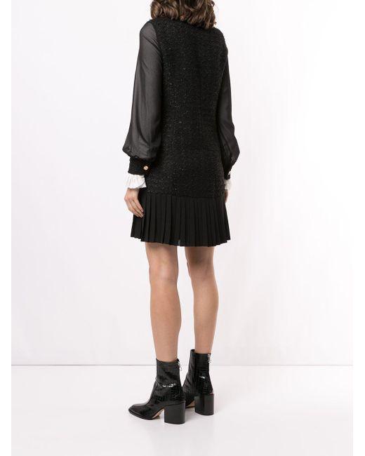 Edward Achour Paris ダブルブレスト ドレス Black