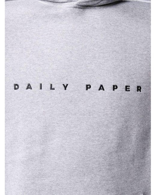 メンズ Daily Paper ロゴ パーカー Gray