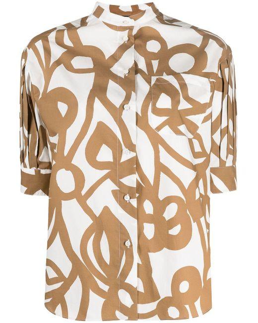Camisa con motivo floral abstracto Aspesi de color Multicolor