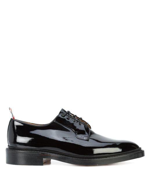 Лакированные Туфли На Шнуровке Thom Browne для него, цвет: Black