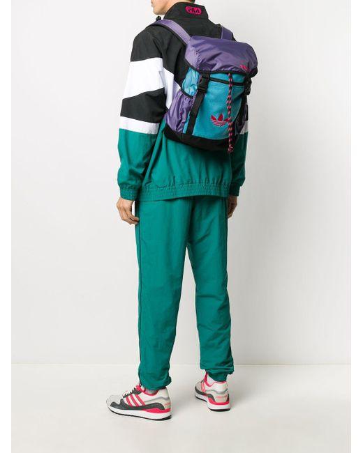 Adidas カラーブロック バックパック Gray