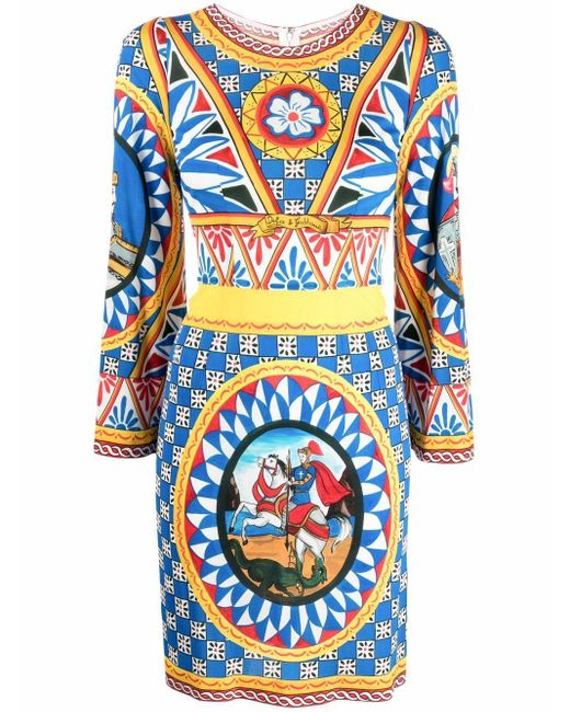 Dolce & Gabbana グラフィック ワンピース Blue