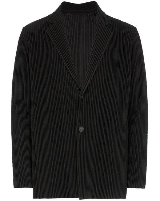 メンズ Homme Plissé Issey Miyake シングルジャケット Black