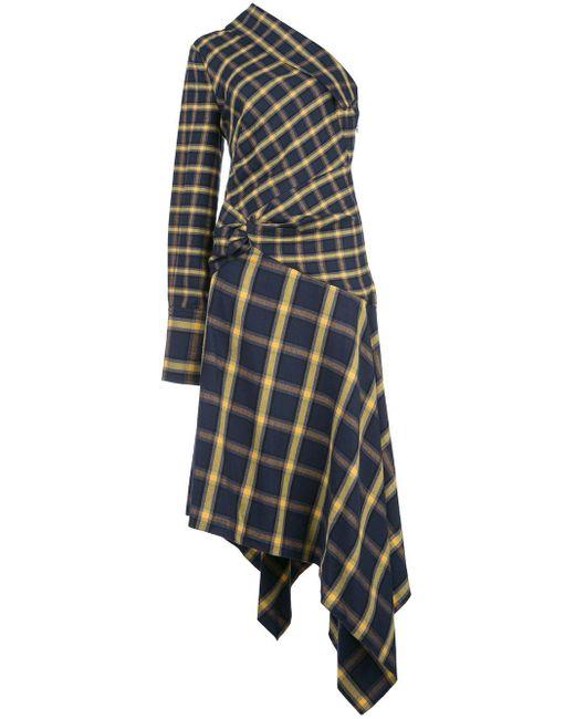 Monse チェック ドレス Blue