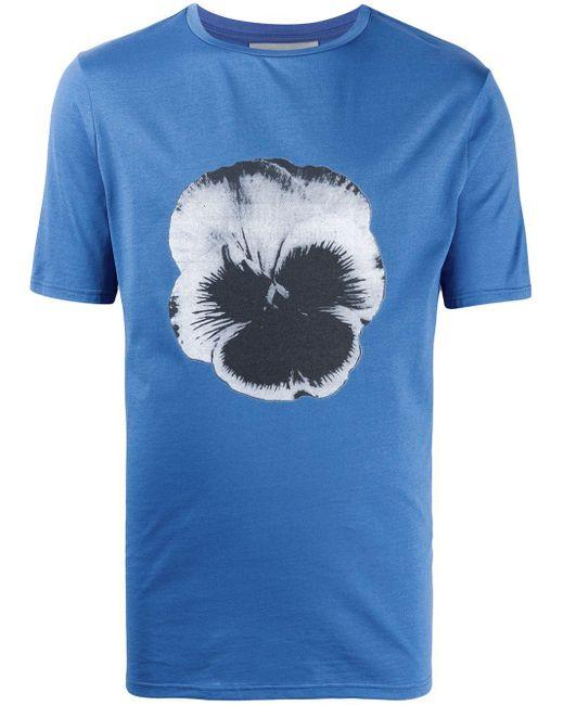 メンズ Frankie Morello フローラル Tシャツ Blue