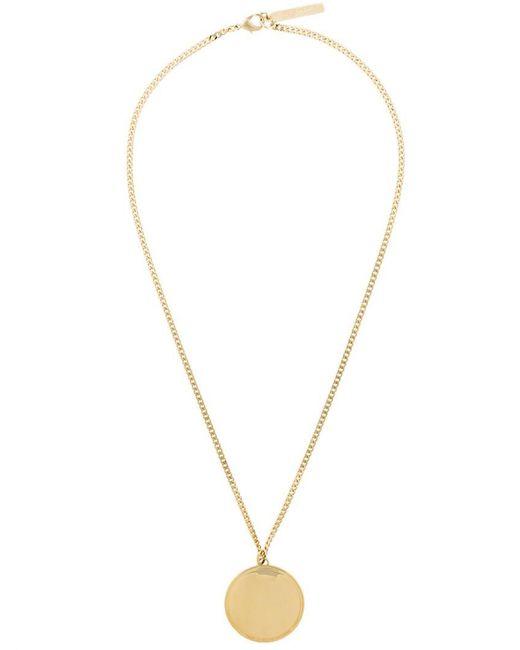 Givenchy - Metallic Circular Pendant Necklace - Lyst