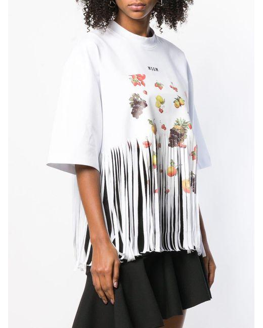 MSGM プリント Tシャツ White