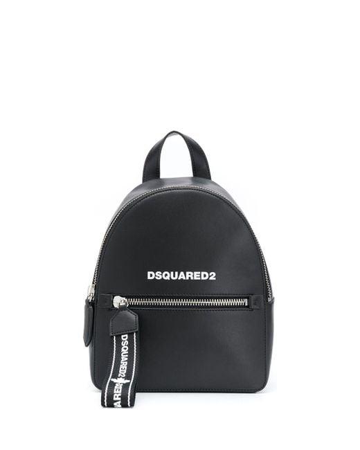 DSquared² ロゴストラップ バックパック Black