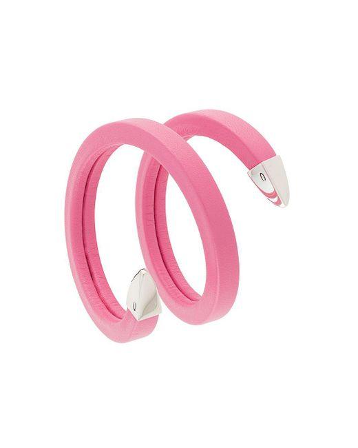 Браслет На Два Оборота Bottega Veneta, цвет: Pink