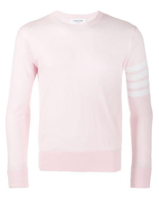 Thom Browne Milano Sweater Met Vier Strepen in het Pink voor heren