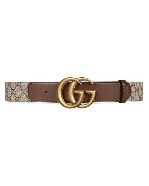 Ремень GG Marmont С Узором GG Supreme Gucci, цвет: Brown
