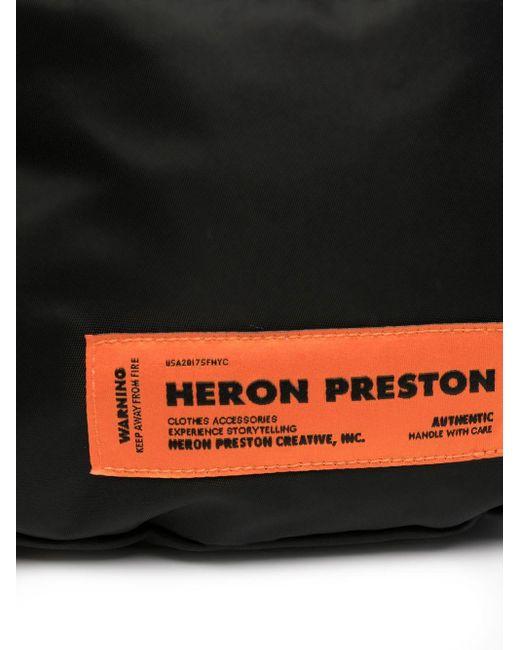 メンズ Heron Preston ロゴ ベルトバッグ Black