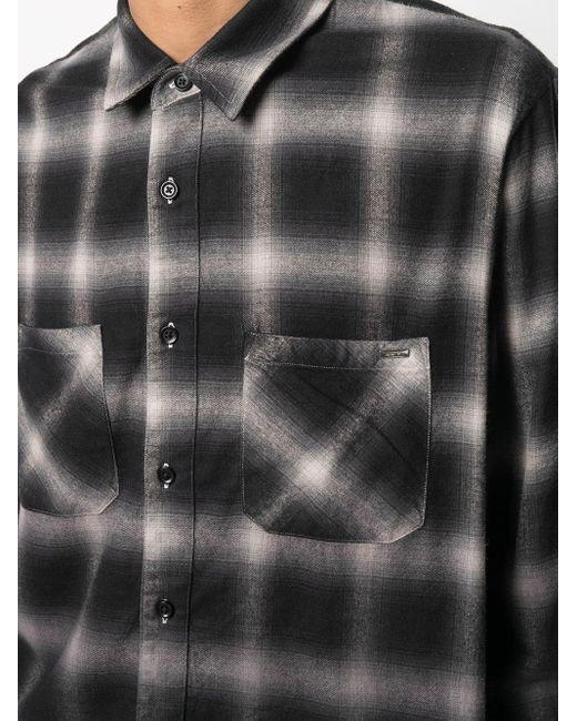 Camisa con estampado sombreado Amiri de hombre de color Black
