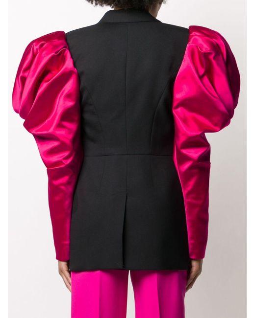 Двубортный Блейзер С Объемными Плечами Alexander McQueen, цвет: Multicolor