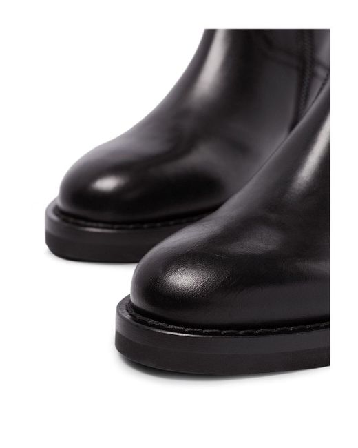 Ann Demeulemeester Black 60 Rear Lace-up Leather Boots
