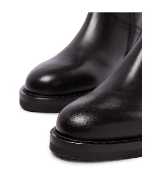 Ann Demeulemeester Black Stiefel mit Schnürung
