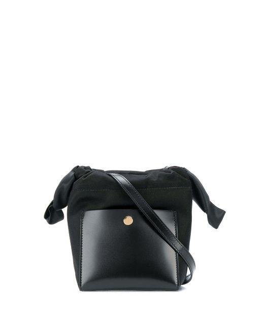 Sophie Hulme Black Knot Nano Tote Bag